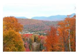 Berlin, NH is beautiful during foliage season