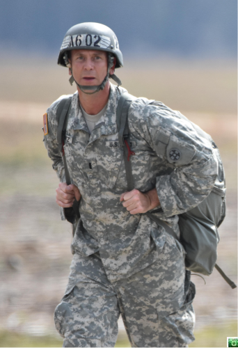 Army Reserve 1st Lt. Nicholas T. Krantz, commander of the 811th Ordnance Company, 321st Ordnance Battalion, 38th Regional Support Group, 310th Sustainment Command (Expeditionary), headquartered in Rainelle, W. Va.