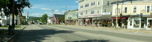 Main Street, Colebrook, NH, looking north on US Route 3.