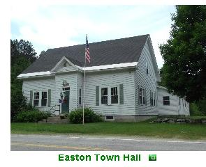Easton Town Hall, adjacent to the fire station. - Click for a larger image!
