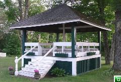A gazebo in Effingham, NH - Click for a larger image!