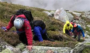 Lost Rhode Island residents Daniel Rueda and Christopher Petteruto located on Mount Washington.