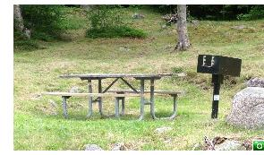 There are many picnic tables at Crawford Notch State Park - Click for a larger image!