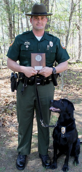 Conservation Officer Robert Mancini of Sugar Hill, NH, earned the 2015 Northeast Conservation Law Enforcement Chiefs Association of the Year Award.