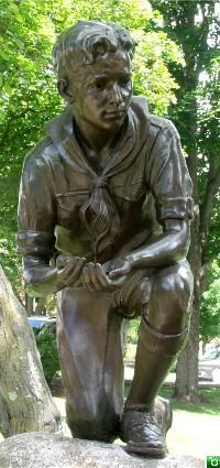 The Boy Scout Fountain in Plymouth, NH.