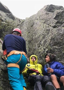 Rhode Island residents Daniel Rueda and Christopher Petteruto located on Mount Washington.