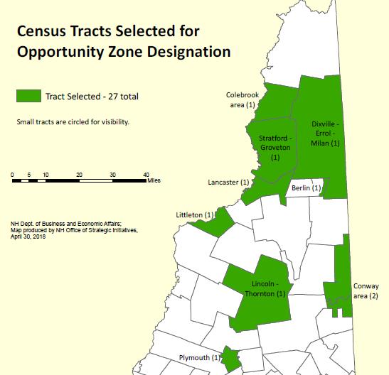 NH Govenor announces opportunity zones.