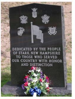 Stark cemetary memorial