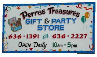 NH Party Shop & Function Room: Think of Perras Treasures Gift