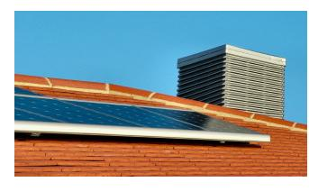 Most home solar systems are install on a rooftop.